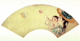 Mother and Child Blowing Soap Bubbles