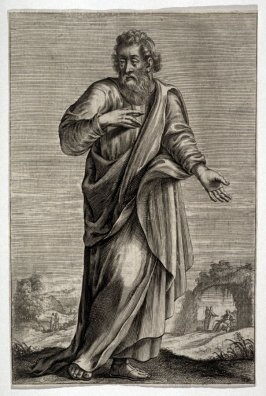 Portrait of a man in robe and sandals