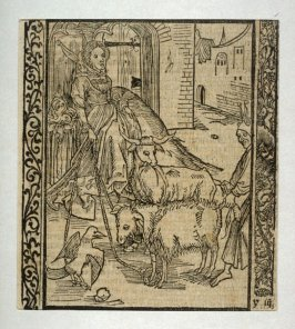 "Lust Fool: woodcut illustration for the original edition of the ""Narrenschiff"" (Ship of Fools), taken from the Latin reprint edition Basel"