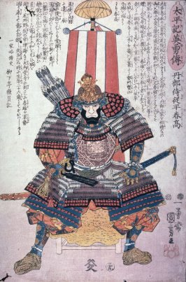 Warrior in Armor Seated on a Throne