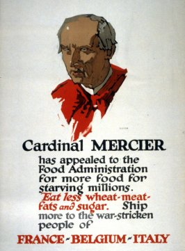 Cardinal Mercier - World War I Poster