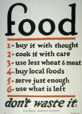 Food / Don't Waste It - World War I Poster