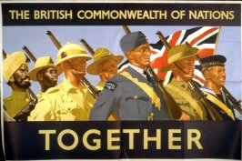 The British Commonwealth of Nations Together - World War II Poster