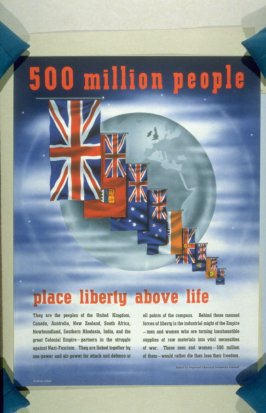 500 Million People Place Liberty Above Life - World War II Poster