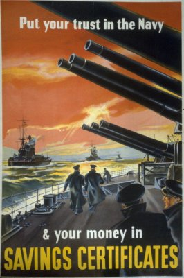 Put your Trust in the Navy & Your Money in Savings Certificates - World War II Poster