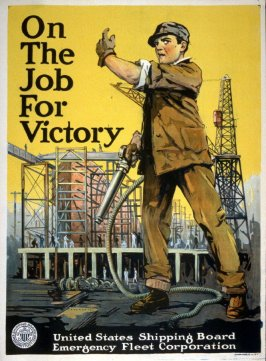 On the Job for Victory - World War I Poster
