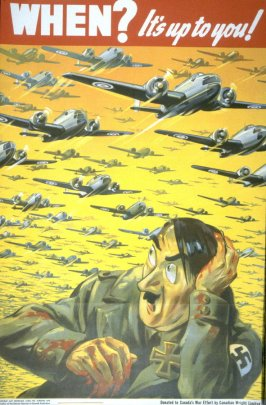 When? It's Up To You! - World War II Poster