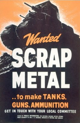 Wanted, Scrap Metal...To Make Tanks, Guns, Ammunition - World War II Poster