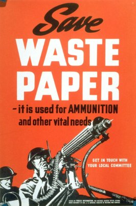 Save Waste Paper - World War II Poster