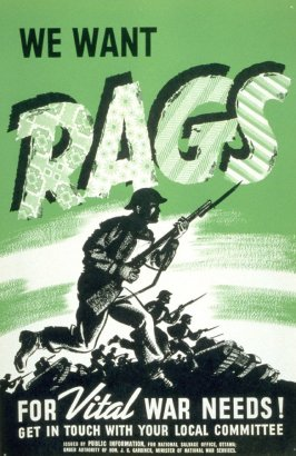 We Want Rags for Vital War Needs