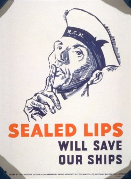 Sealed Lips Will Save Our Ships - World War II Poster