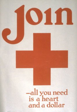 Join- All You Need is a Heart and a Dollar - World War I Poster