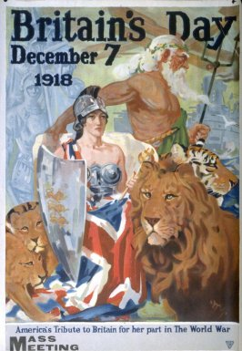 Britain's Day, December 1918 - World War I poster
