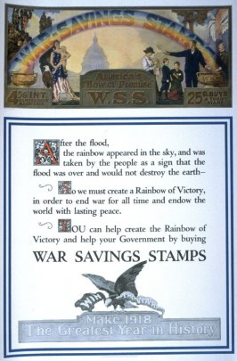 """America's """"Bow of Promise"""" - World War I poster"""