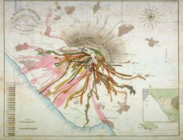 A Map of Vesuvius showing the direction of the streams of Lava in the Eruptions from 1631 A.D. to 1831 A.D.