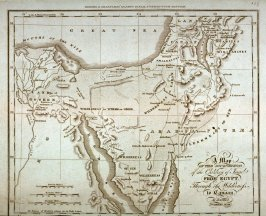 A Map of the Journeyings of the Children of Israel From Egypt Through the Wilderness to Canaan
