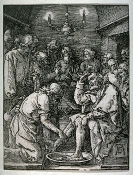 Copy after Dürer's Christ Washing the Feet of the Disciples from the Little Passion