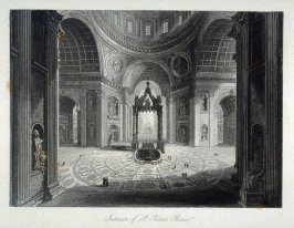 Interior of St. Peter's Rome