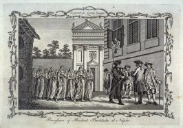 Procession of Penitent Prostitutes at Naples, from Drake's Voyages