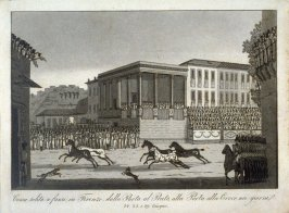 Horse Race Held in Florence from the Porta al Prato to the Porta alla Croce on the 24th, 25th and 29th of June