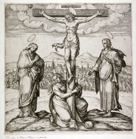 Christ on the Cross with Saints Mary, John, and Mary Magdalene