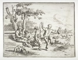 [Peasants dancing in the country]