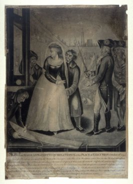 The Unfortunate Marie Antoinette Queen of France at the Place of Execution, October 16th, 1793