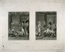 Napoleon offered food by peasant family