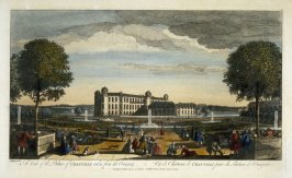 (One from a Series of 56 Prints): A View of the Palace of Chantilli, taken from the Orangery