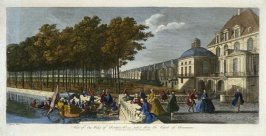 (One from a Series of 56 Prints): View of One Wing of Fontainebleau taken from the Court of Fountains