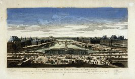 (One from a Series of 56 Prints): Vue de la Sortie de Paris prise du Pont Neuf
