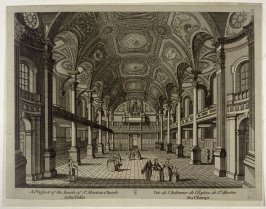 A Prospect of the Inside of St. Martins Church in the Fields