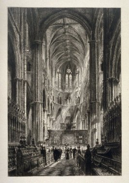Interiior of Westminster Abbey, London