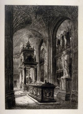 Chapel containing the tomb of Mary Queen of Scotts, Westminster Abbey, London