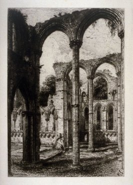 V - Ruined Abbeys of Yorkshire - Fountains Abbey, chapel of the nine altars