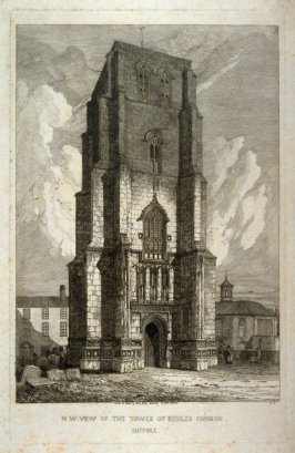 N.W. View Of The Tower of Beccles Church, Suffolk