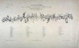 Diagram of Napoleon and his Generals and other celebrities of the time