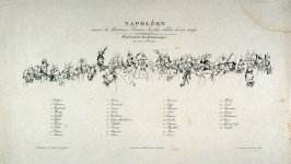 Napoleon surruonded by the most famous Generals of his time