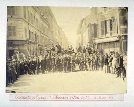 Barricade de la rue St. Sébastien (Côté Sud) - 18 Mars 1871 (The Barricade on St. Sébastien Street (South Side))