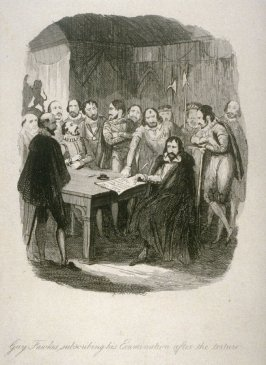 Guy Fawkes Subscribing his Examination after the Torture