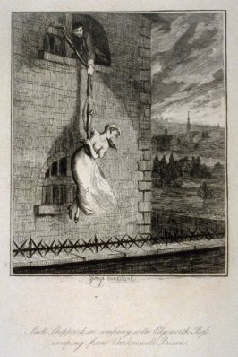 Jack Sheppard in Comapny with Edgeworth Bess Escaping from Clerkenwell Prison