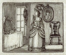 The refined woman at her dressing table.