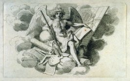 [Angel with artist's tools]