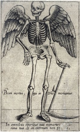 Death with wings and a sycthe
