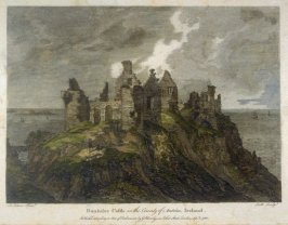Dunluice Castle, in the County of Antrim, Ireland