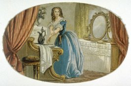 Young woman in room with mirror