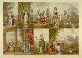 Various figures and landscapes