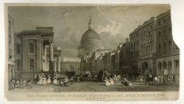 The Post Office, St. Paul's Cathedral, and Bull & Mouth Inn, London