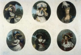 Six Oval Portraits of Women