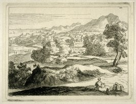 Landscape with figures in the foreground.